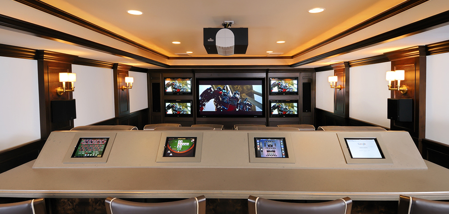 custom media control center and home theater