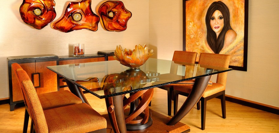 Custom dining table and night tables