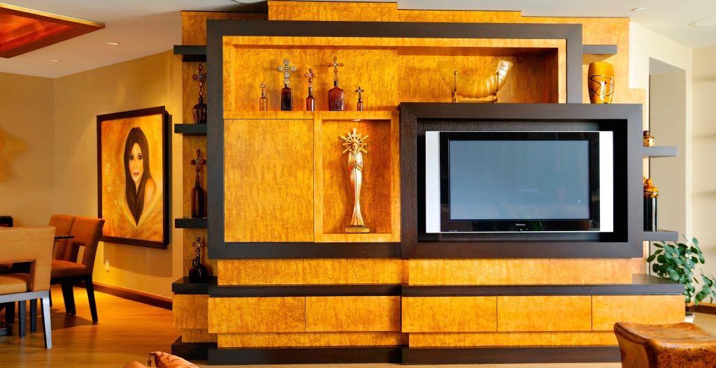 Custom luxury media console