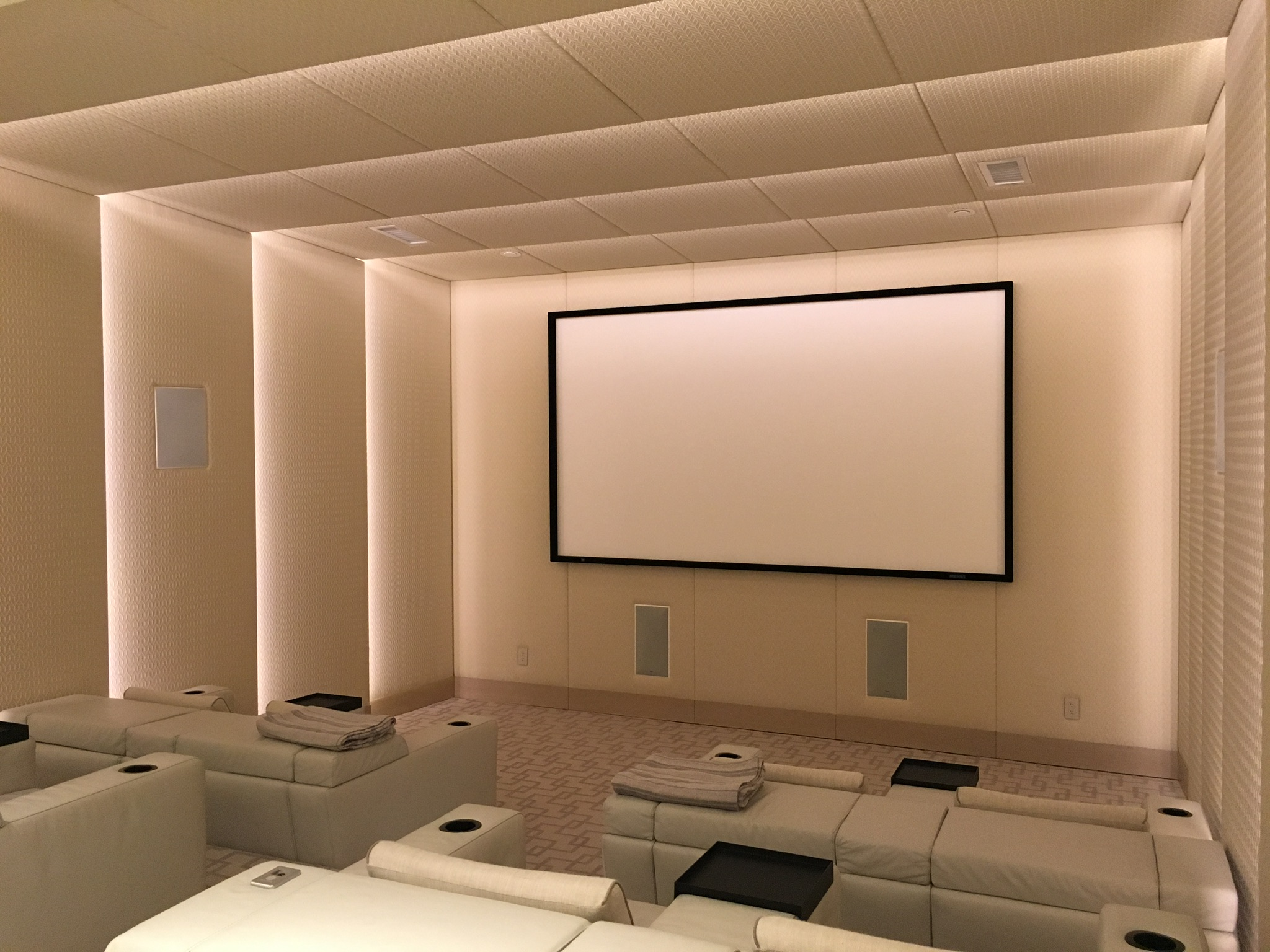Home theater furniture.